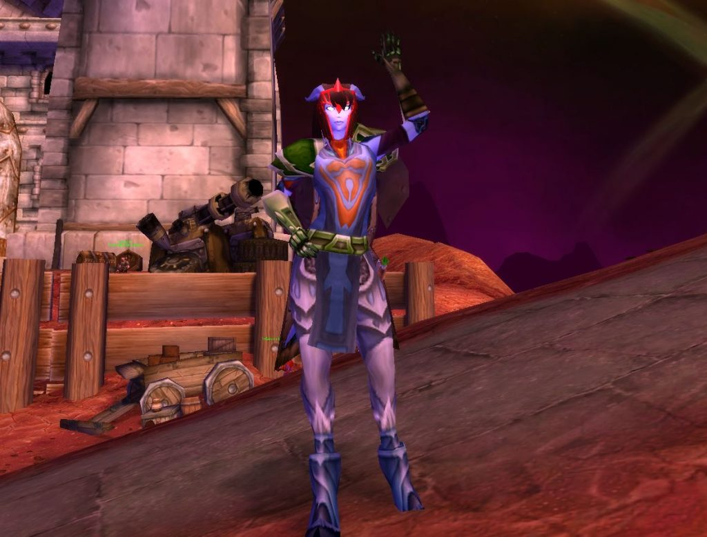 wow bc classic draenei wave