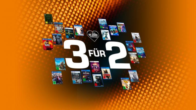 2 Spiele bezahlen, 3 bekommen: Saturn-Aktion für PC, PlayStation & Xbox
