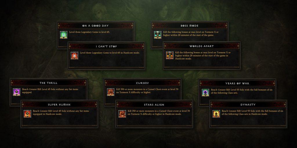 Diablo 3 Season 24 Errungenschaften