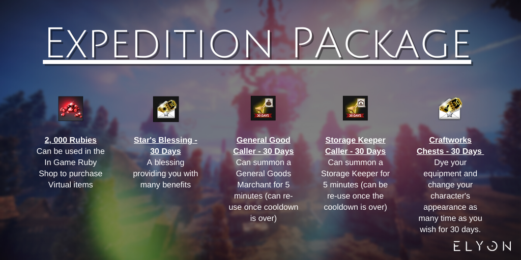Elyon Expedition Pack