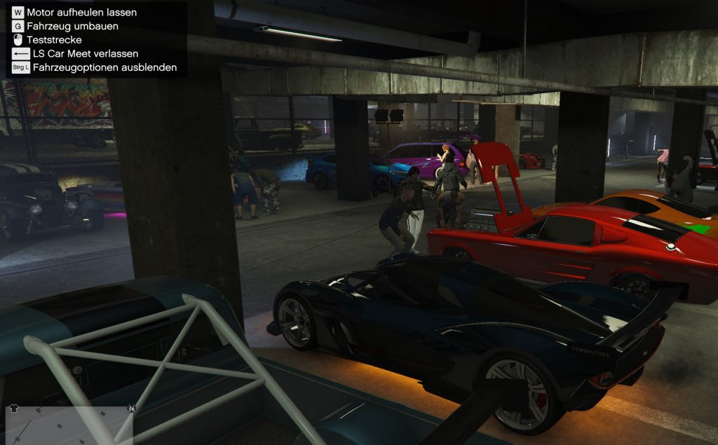 GTA Online Fahrzeugoptionen in Car Meet