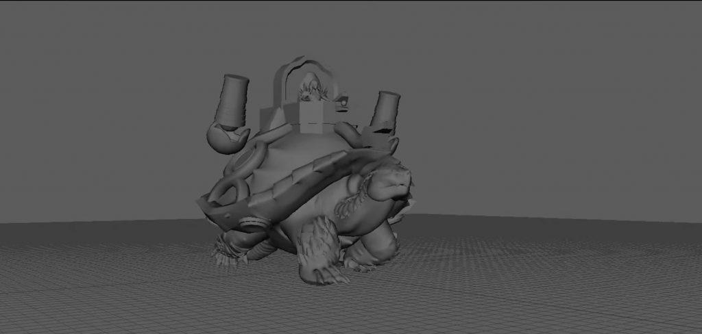 GW2 End of Dragons Konzept Belagerungsschildkröte