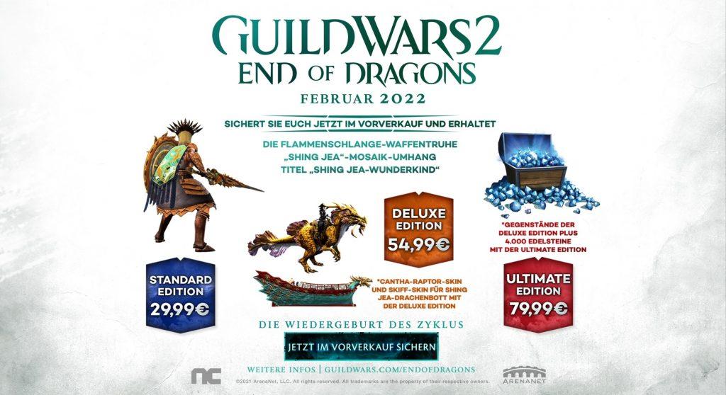 GW2 End of Dragons Vorbestellen