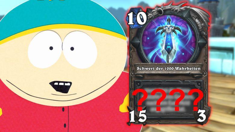 Hearthstone Cartman Schwert der 1000 Wahrheiten titel title 1280x720