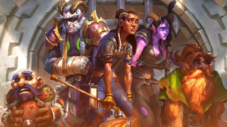 Hearthstone Worn out adventurers Stormwind titel title 1280x720