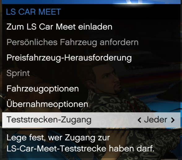 LS Car Meet Interaktionsmenü