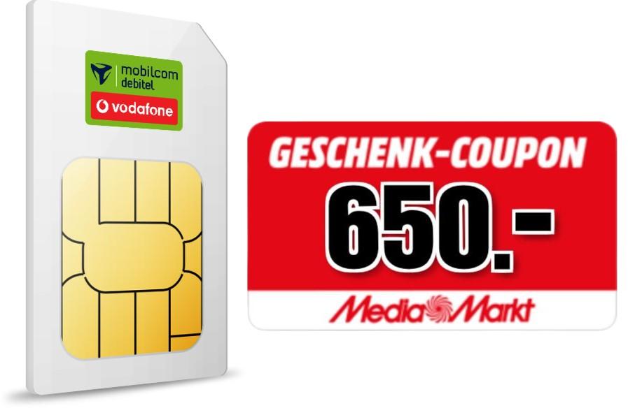 Handy-Tarif mit SIM-Karte plus Einkaufsgutschein