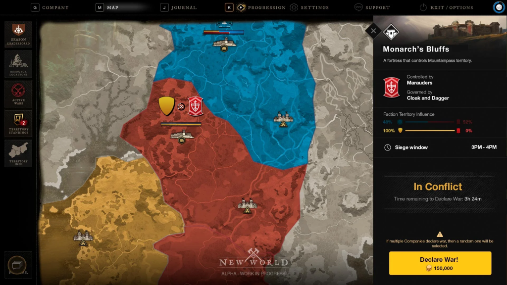 New World Krieg