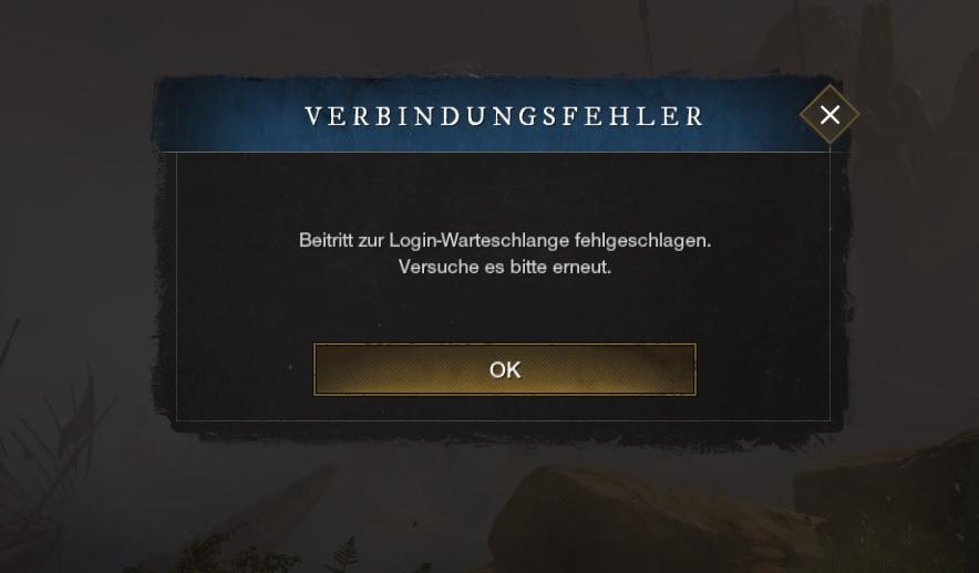New World Verbindungsfehler