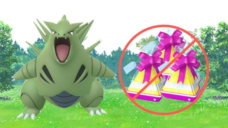 Pokémon GO Desportar Geschenke