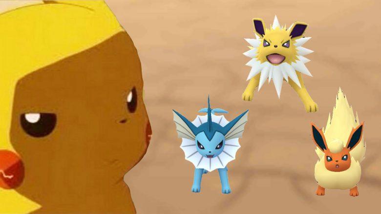 Pokemon GO Aquana, Blitza, Flamara