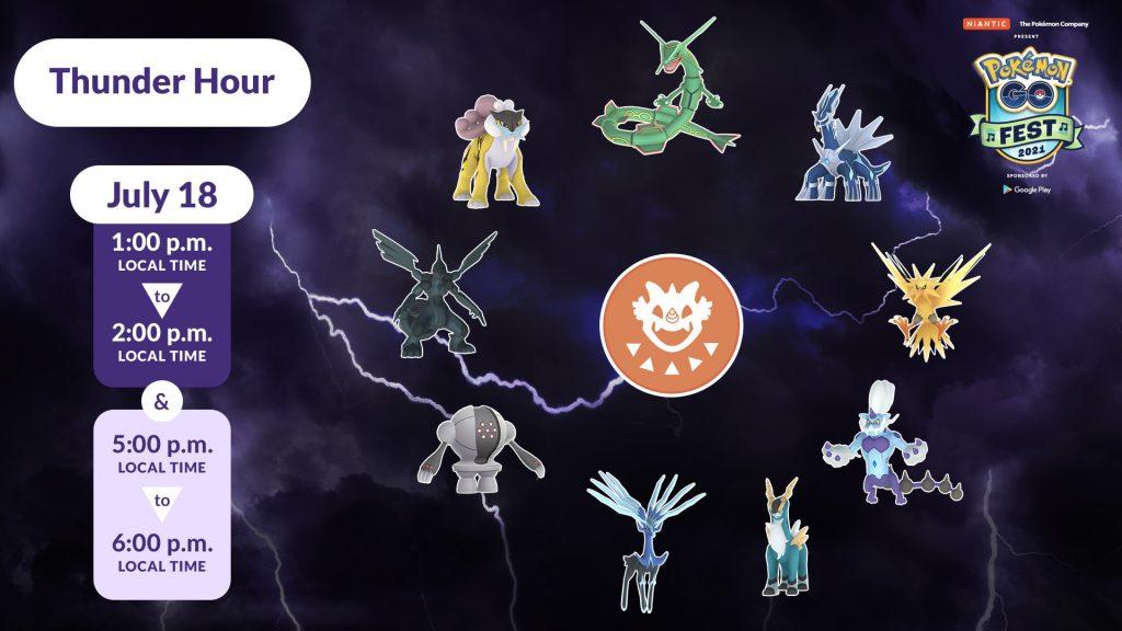 Pokémon GO Donner Stunde