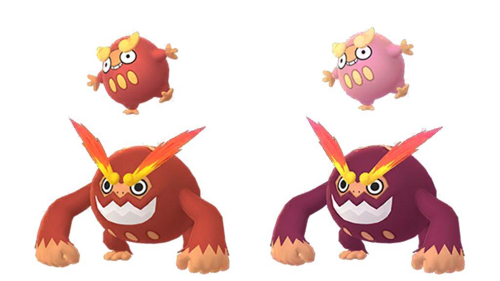 Pokémon GO Flampion Shiny-Familie