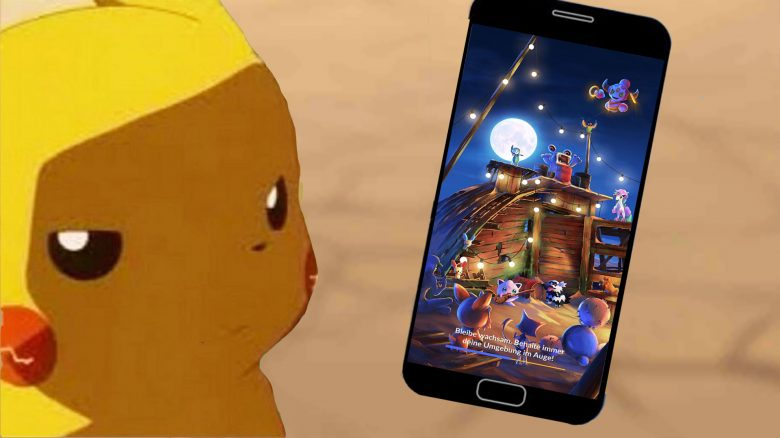 Pokémon GO Pikachu Handy Ladebildschirm