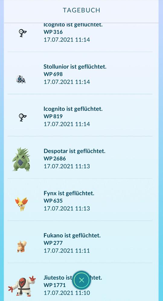 Pokémon GO Plus geflüchtet 1