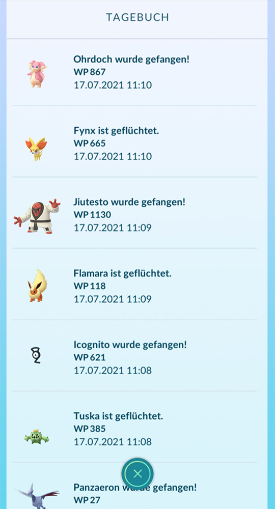 Pokémon GO Plus geflüchtet 2