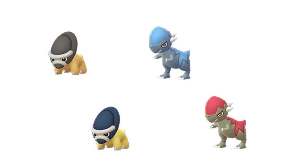 Pokémon GO Shiny-Schilterus und -Koknodon