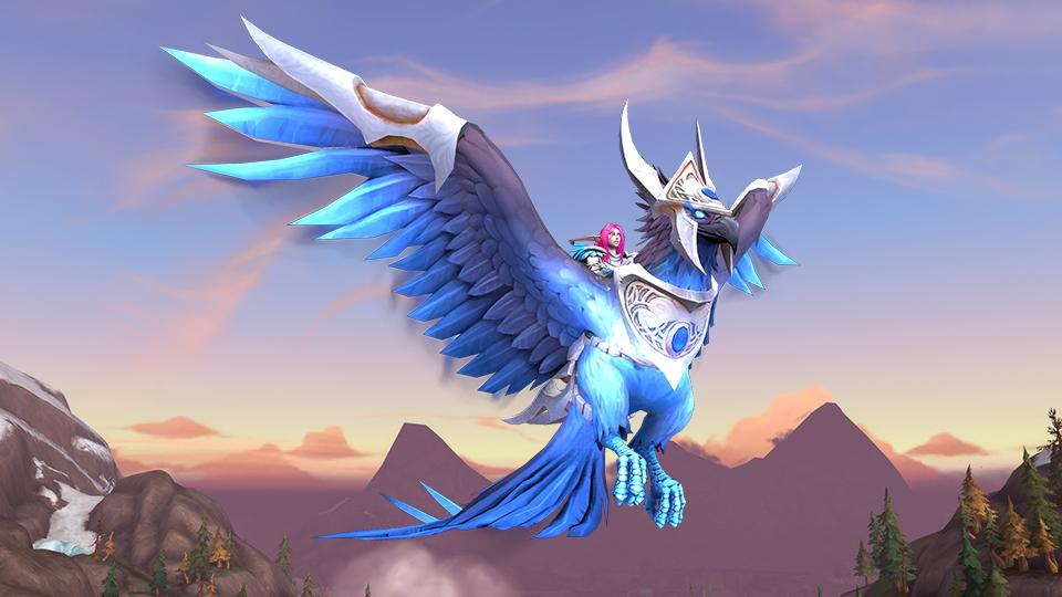 WoW Blue Phoenix Mount