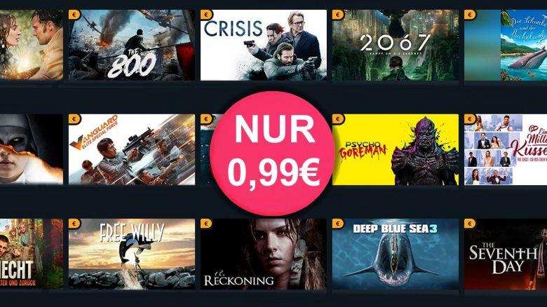 Über 60 Filme für je 99 Cent zum Ausleihen im Angebot bei Amazon Prime