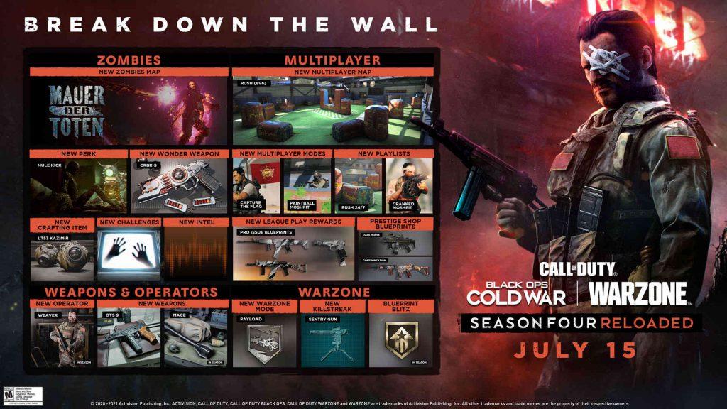 cod warzone cold war mid season 4 roadmap