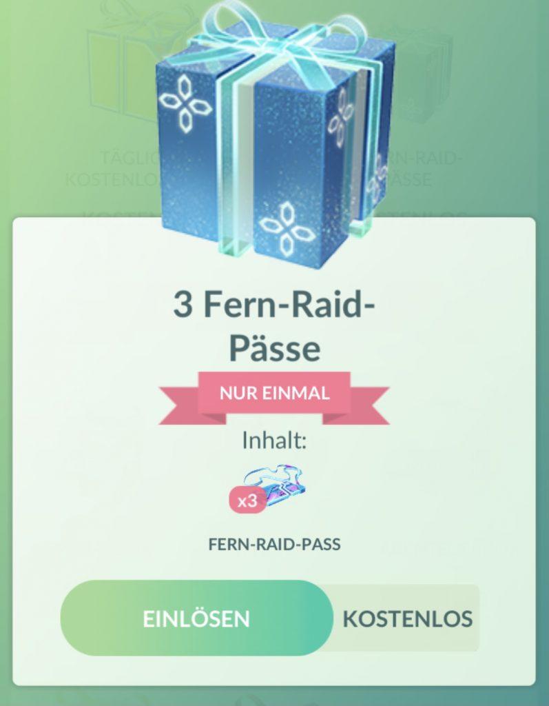 Fern-Raid-pässe