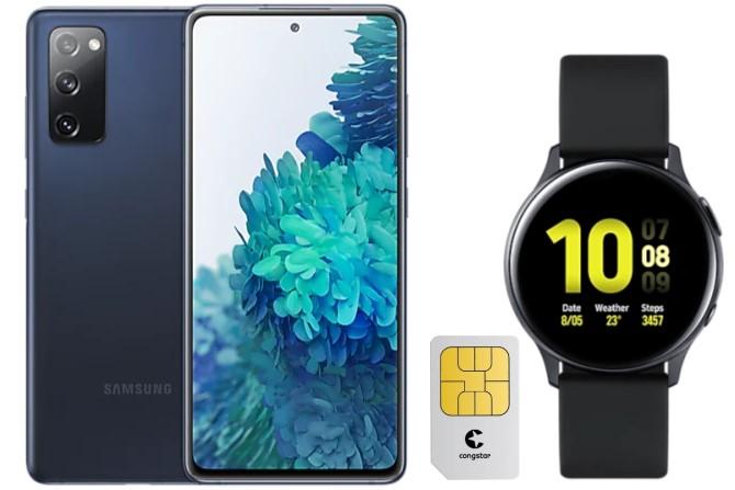 Galaxy S20 FE mit Tarif im Telekom-Netz & Smartwatch günstig bei Logitel