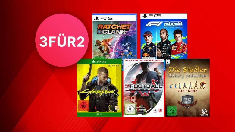 MediaMarkt 3-für-2: Spiele für PC, PS5 & Xbox im Angebot