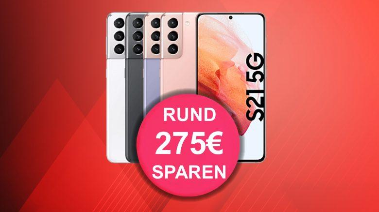 MediaMarkt: Samsung Galaxy S21, 40 GB LTE & Flatrate aktuell günstig