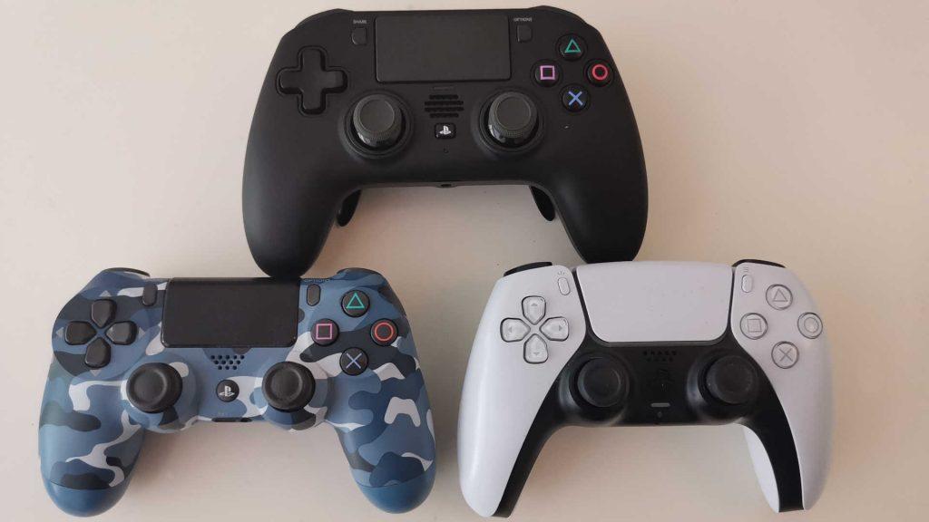 powera fusion pro wireless für ps4 größenvergleich PS4 PS5 controller