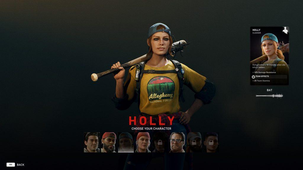 Back 4 Blood Holly Choose