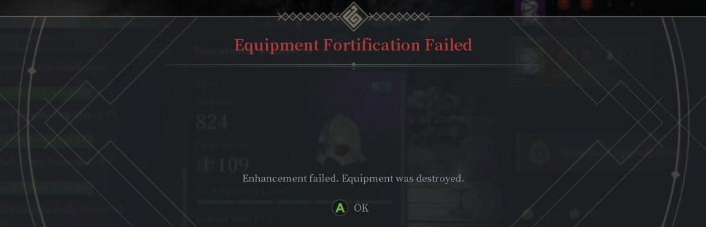 Bless Unleashed Ausrüstung zerstört