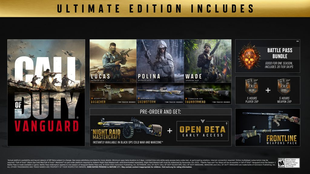 CoD Vanguard Ultimate Edition Pre Order