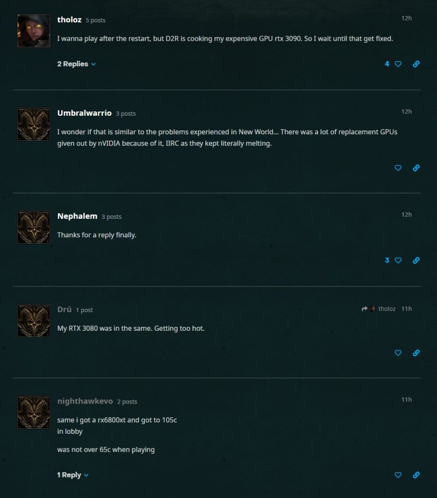 Diablo 2 Resurrected Grafikkarten Heiß