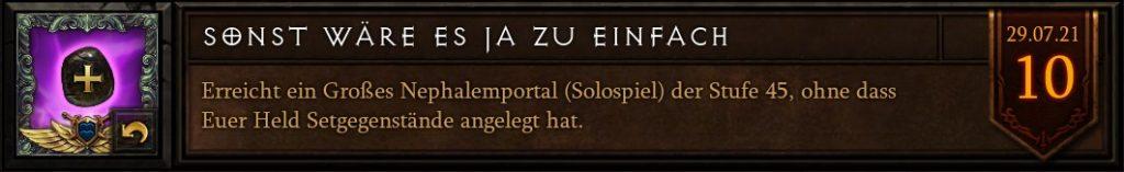Diablo 3 Sonst wäre es ja zu einfach