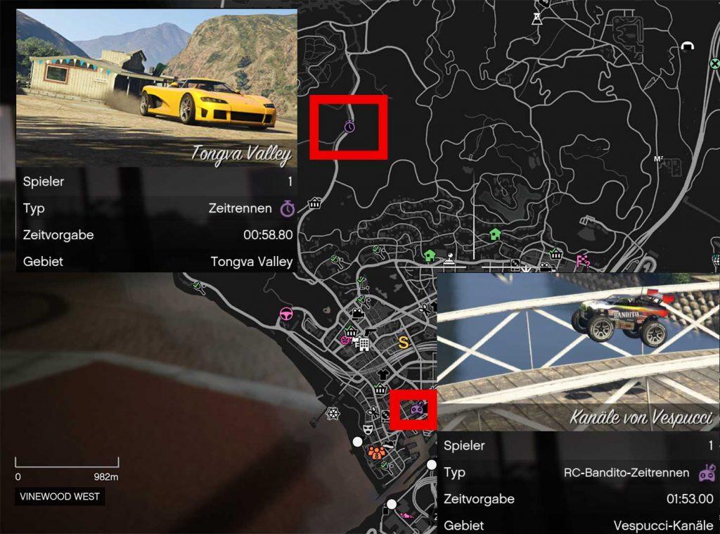 GTA-Online-Zeitrennen-Übersicht