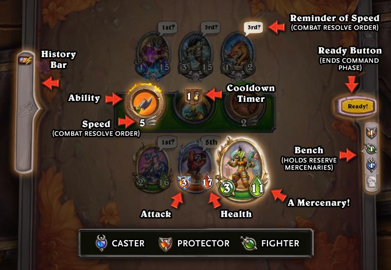 Hearthstone Mercenaries Details