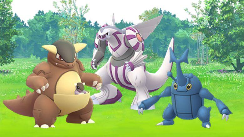 Pokémon GO Kangama, Palkia und Skaraborn