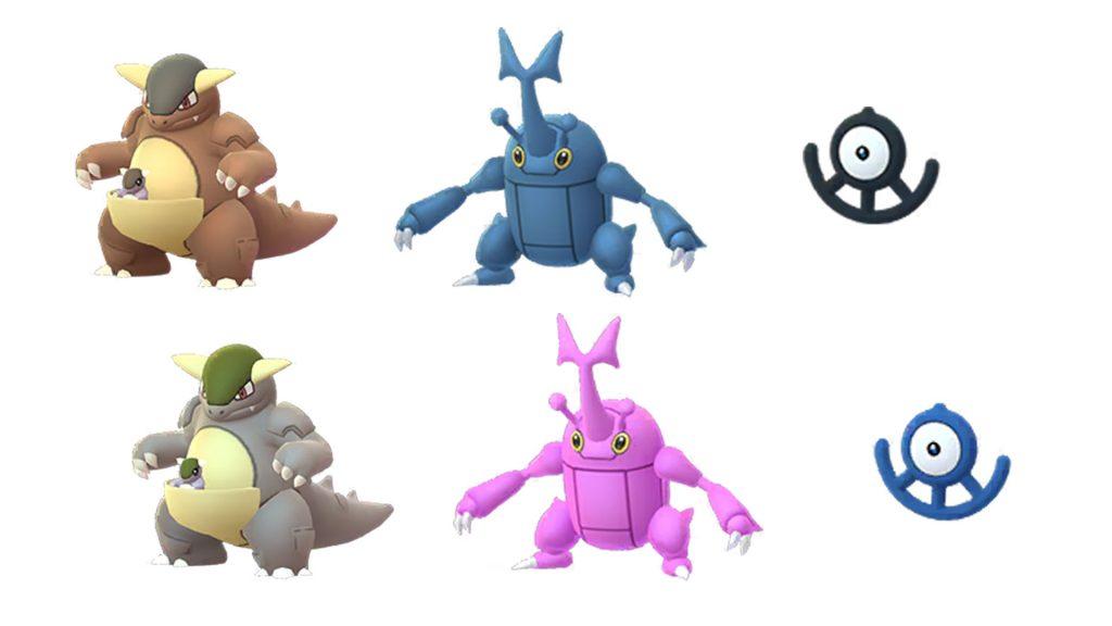 Pokémon GO Kangama, Skaraborn und Icognito U Shiny