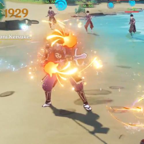 Ryuukin-Lohe betroffener Gegner