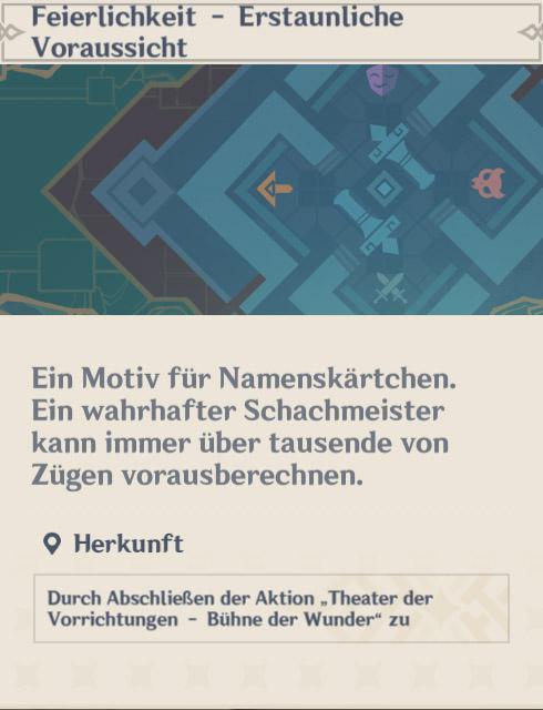 Theater der Vorrichtungen namecard