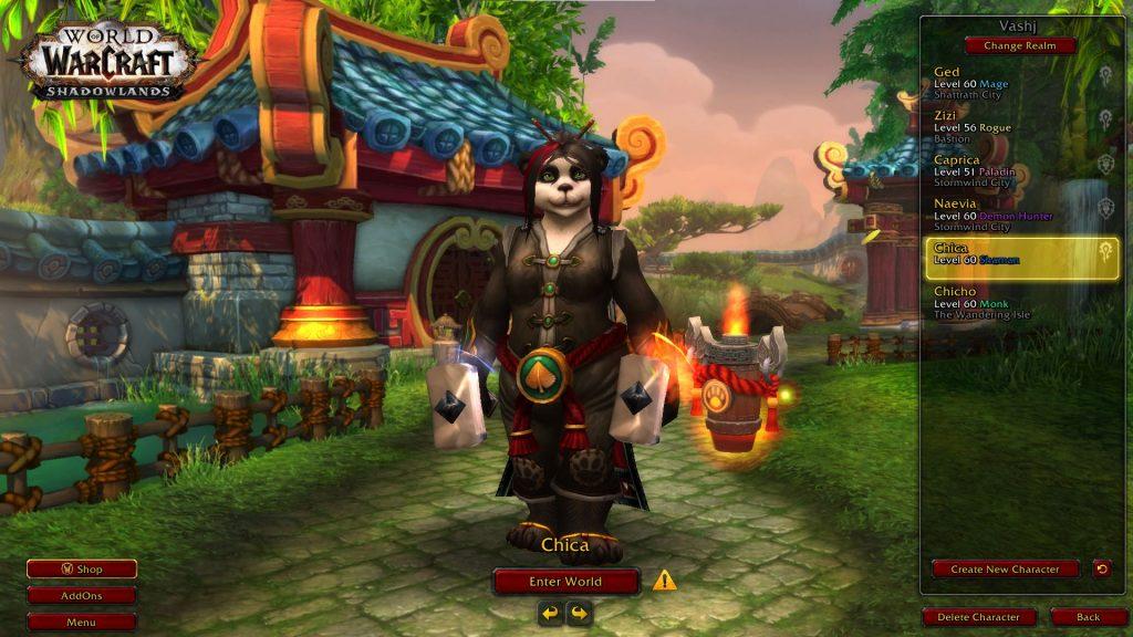 WoW Chica Pandaren Level 60 -2