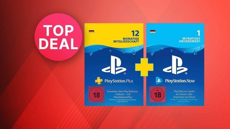 Amazon Angebot: 12 Monate PS Plus kaufen, 1 Monat PS Now gratis
