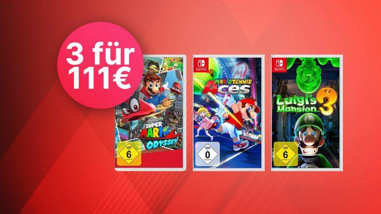 Amazon 3-für-111-Angebot: Spiele für Nintendo Switch zum Bestpreis