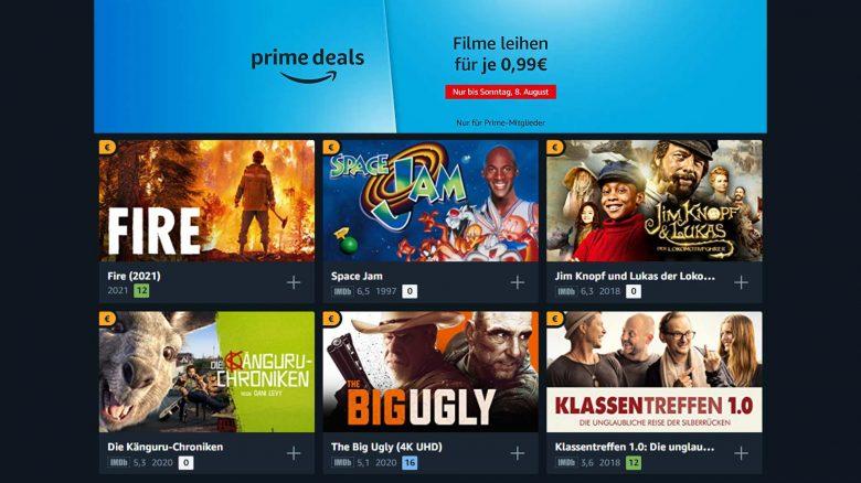 Amazon Prime Video Angebot: 50 Filme für je 99 Cent leihen