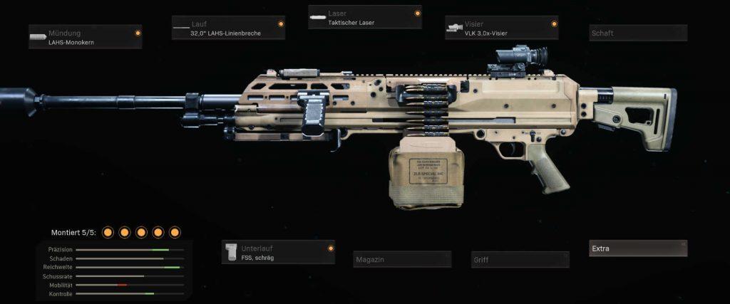 cod warzone lahs mg setup