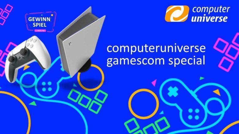 computeruniverse: Gamescom Angebote & PS5-Gewinnspiel