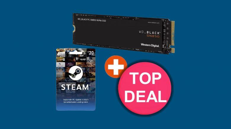 Top-SSD zum aktuellen Bestpreis mit Steam-Gutschein bei Cyberport.de