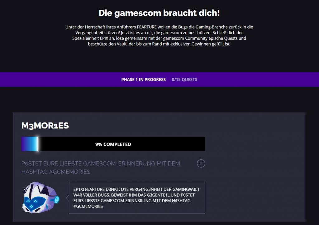 gamescom epix quest