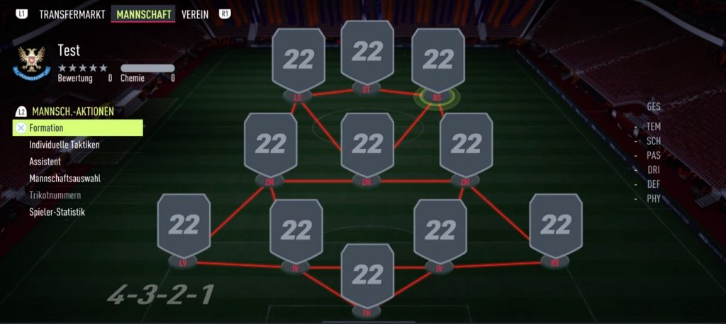 FIFA 22 Formation