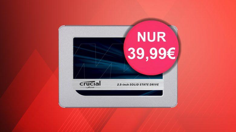 Crucial MX500-SSD mit 500GB aktuell günstig wie nie im Amazon-Angebot